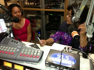 Fidelina and Juanita on Hora Mixteca show- 7-7-13