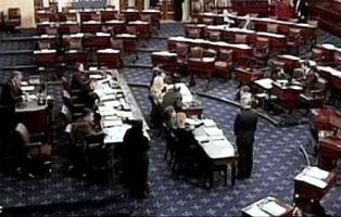 Salón del pleno del Congreso en tiempos de Covid-19. Foto: asterix611 via Flickr.