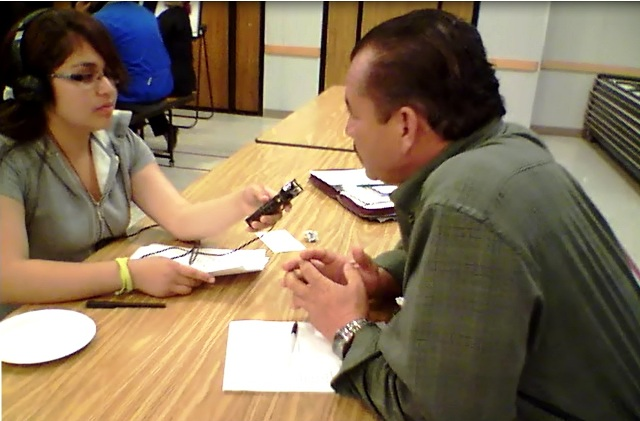 KHDC Trainee Kassandra Interviews Councilman Tony Barrera During Community Forum to Prevent Violence