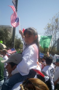 Nina en marcha de Los Angeles. Foto: Ruben Tapia