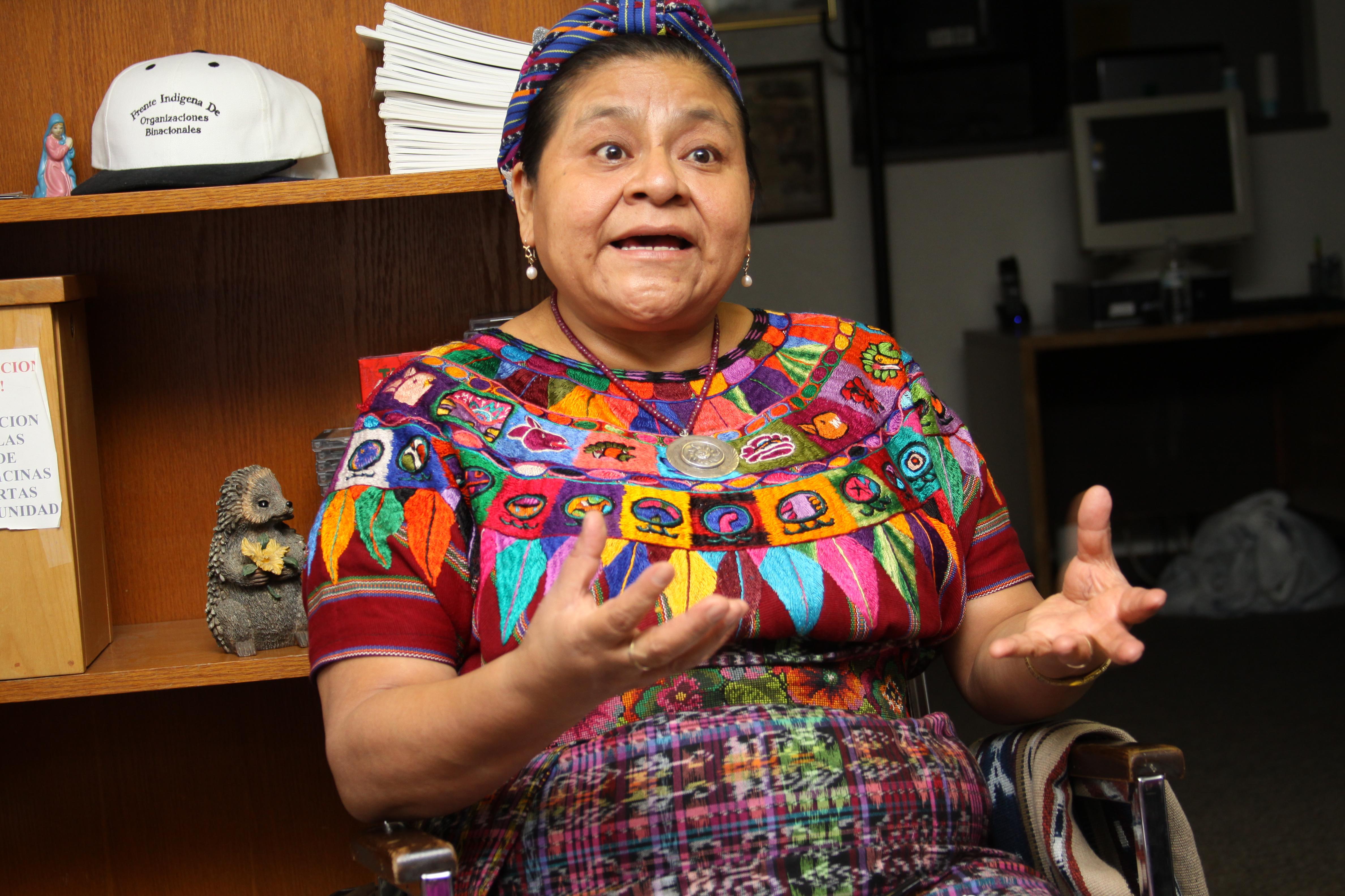 Rigoberta Menchú, Premio Nobel de la Paz. Foto: Mario Gómez