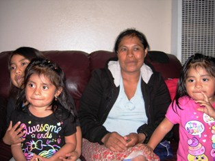 Natividad (center) is a farm worker and indigent care patient who struggles to take care of her diabetes and high blood pressure.