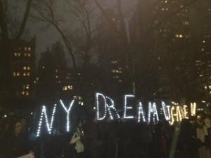 Protesta del NYSYLC frente a la alaldía de Nueva York