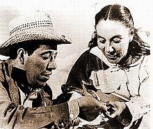 Rosaura Revueltas y Juan Chacón, protagonistas de La sal de la tierra