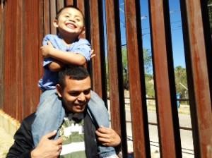 Ardani Rosales y su hijo Pablito