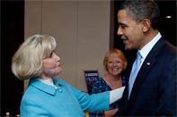 Lylly Ledbetter y Barack Obama