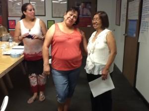 Algunas de las madres voluntarias de Skyline.