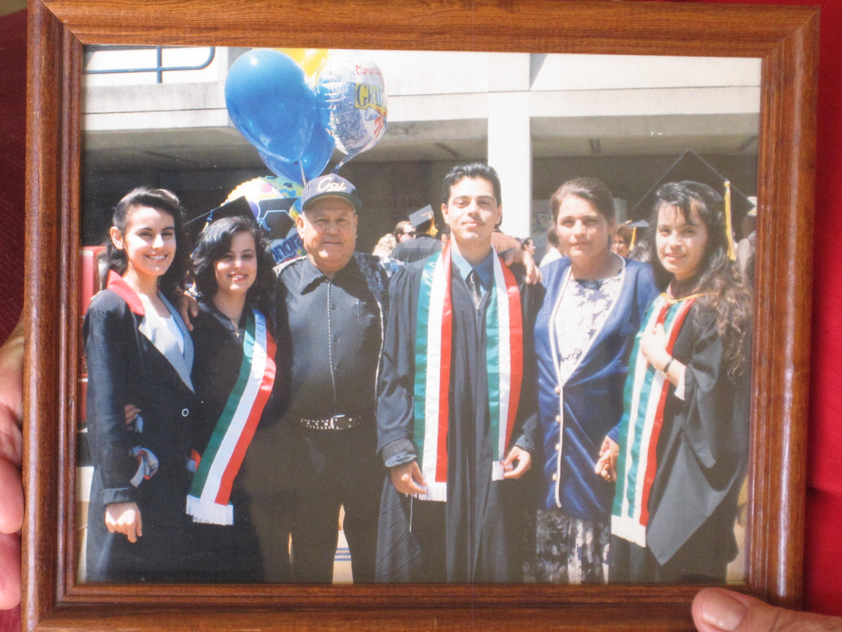 The Ramirez Family on graduation day for Fabian and Maria for their B.A. and Gloria for her master's degree. Photo: Zaidee Stavely