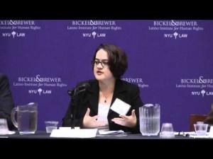 Abogada Mariaelena Hincapié, del Centro Nacional de Leyes de Inmigración.