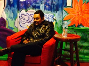 Felipe de la Cruz entrevistado en Casa Azul, El Barrio-East Harlem. Foto: Emilio-Caravana42 NY