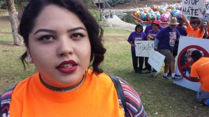 Scarlett Villacorta says she's ready to register other young people to vote. Photo: Rubén Tapia.