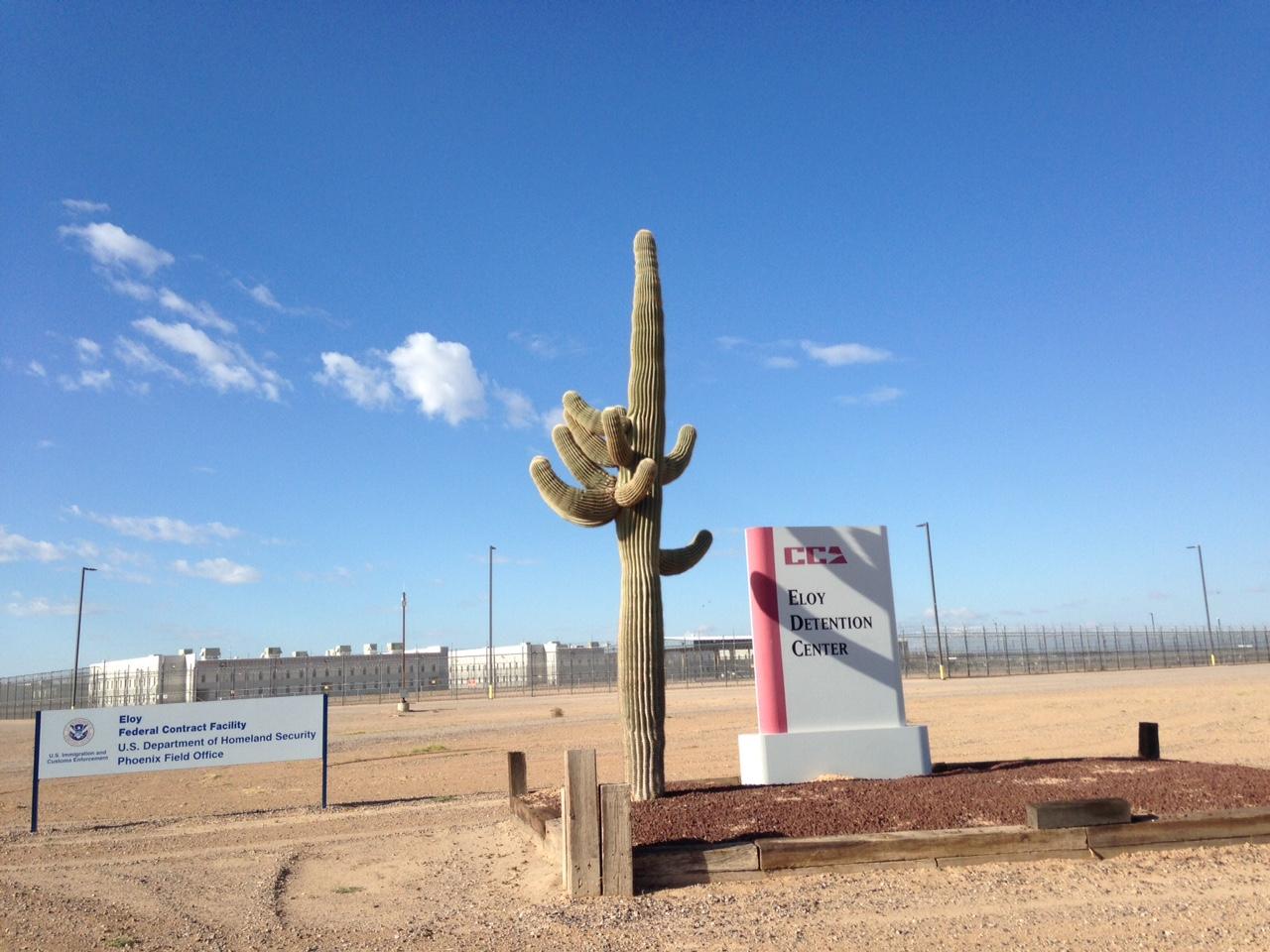 El Centro de Detenciones de Eloy, Arizona. Foto: Valeria Fernández.