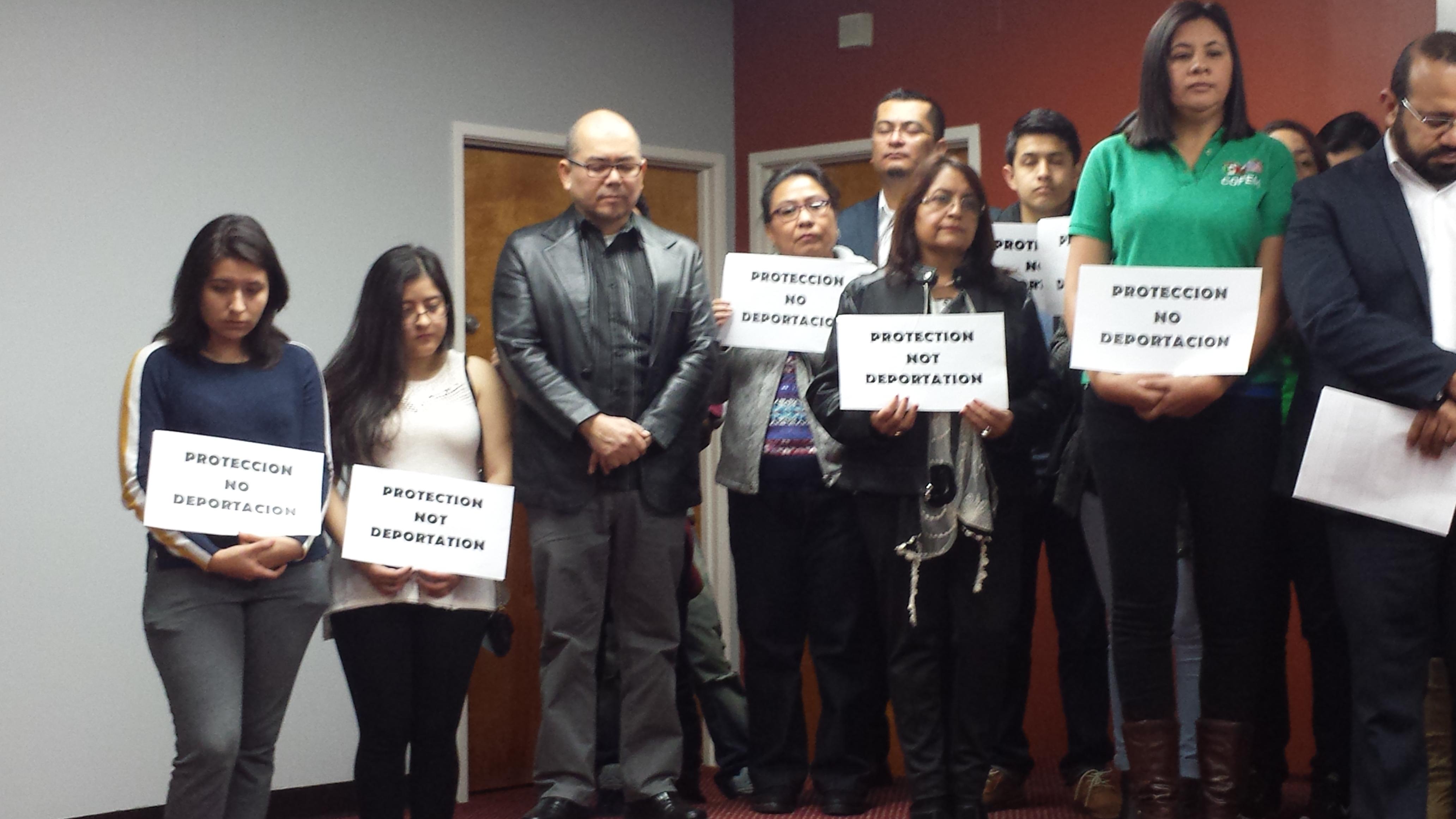 La comunidad angelina se solidariza con los refugiados centroamericanos. Foto: Rubén Tapia.