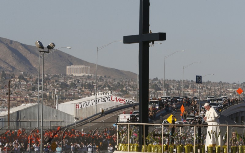 En el puente Ciudad Juárez-El Paso. Foto: www.catholicherald.co.uk