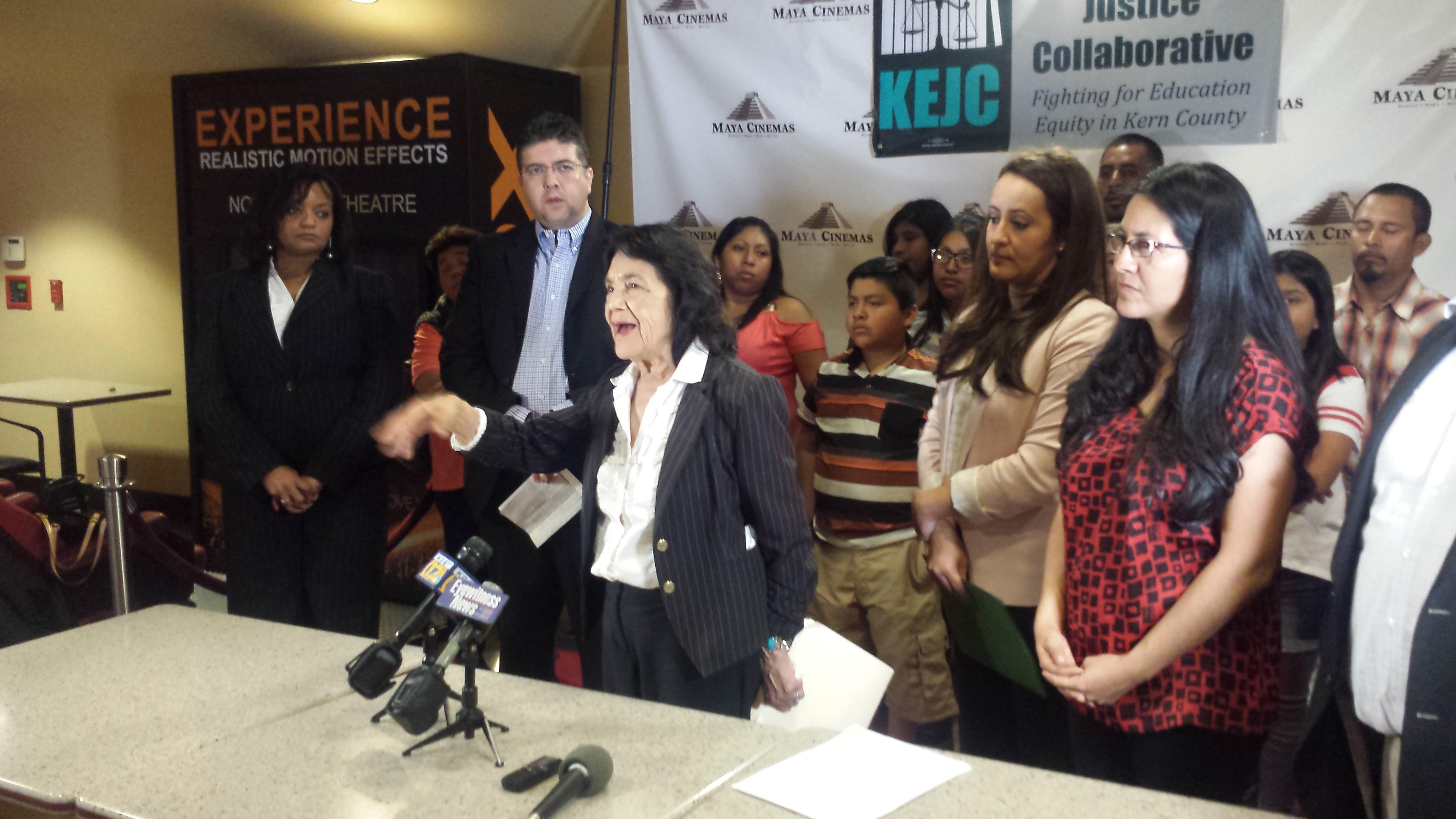 Dolores Huerta, lider historica fundadora de la UFW