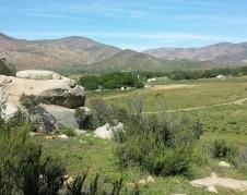 Vista panorámica de San José de la Zorra desde la loma donde está la 'víbora de piedra'. Foto: Rubén Tapia.