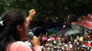 Adriana Ramírez del Comité de Padres y Madres. Foto: Vladimir Flores.