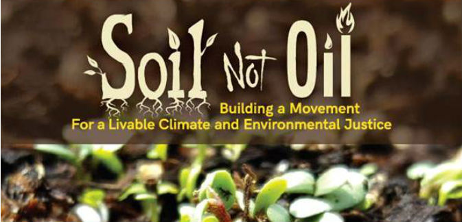 Soil not oil radio bilingue for Soil not oil