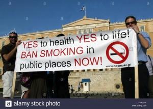 Campaña contra el tabaco. Foto: www.alamy.com
