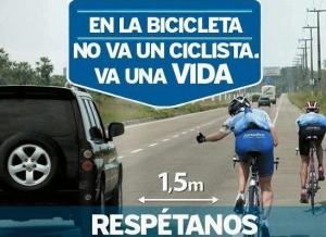 Campaña educativa sobre los derechos del ciclista en las calles de California. Foto: es.pinterest.com