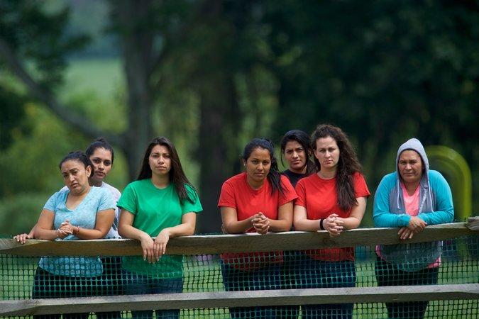 Mujeres en huelga de hambre en Berks. Foto: NYT