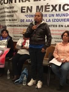 Berta Alicia García es madre de una mujer desaparecida en Ciudad Juárez, Chihuahua