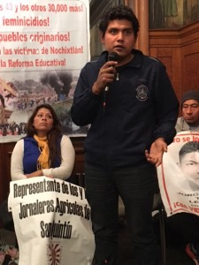 Eduardo Maganda,  estuvo esa noche con sus 43 compañero desaparecidos, de Ayotzinapa.