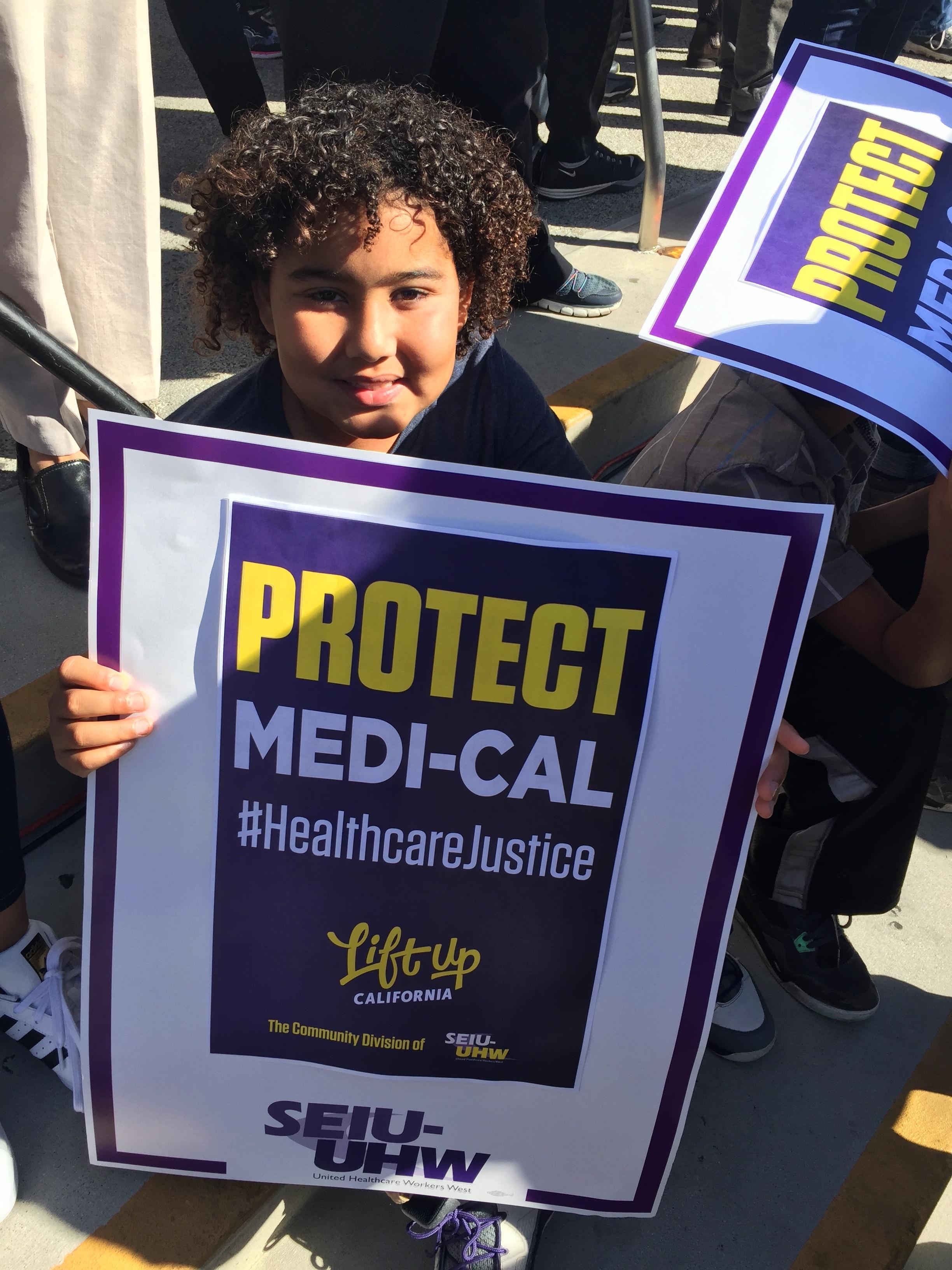 En la defensa de los programas de salud accesibles, en Los Ángeles, CA.