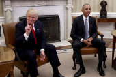 President Obama Meets With President-Elect Donald Trump In The Oval Office Of White House