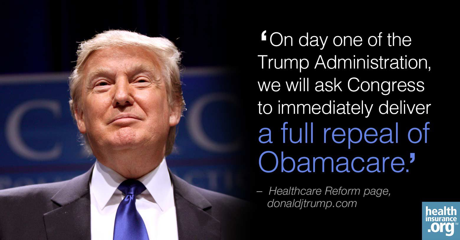 Donald Trump rechaza el Obamacare. Foto: Affordable health insurance