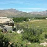 Vista panoramica de San Jose de la Zorra desde la loma donde esta la vibora de piedra. Foto: Ruben Tapia.