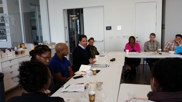 Alberto Retana, Director de Community Coalition, organizacion del Sur Central - LA alianza afro latina que surge después de la rebelión civil de 1992.