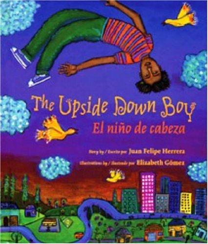 """Portada de """"The Upside Down Boy"""". Ilustración de Elizabeth Gómez."""