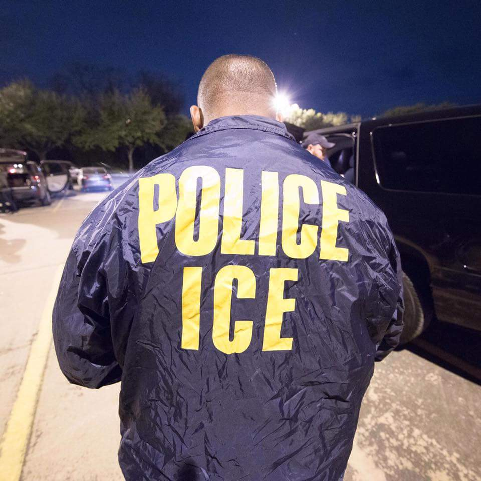 Immigration And Customs Enforcement (ICE) agent. Foto:ICE