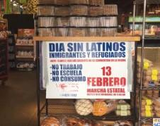 Negociantes se unieron al Dia Sin Latinos en Milwaukee. Foto: Susan Ruggles