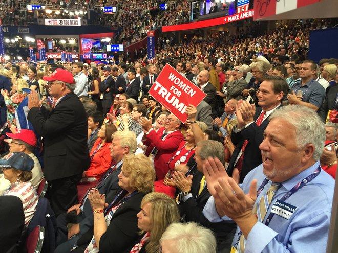 El púlico de Trump. Foto: www.knoxnews.com