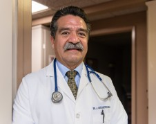"""Luis Bautista, an internist at Bautista Medical Center in Fresno, Calif., on February 8, 2017. Bautista says the majority of his patients rely on Medi-cal for their health insurance.  """"Without Medi-cal, they are not going to get their medication...their blood work...they are going to end up in the emergency room."""" (Heidi de Marco/KHN)"""