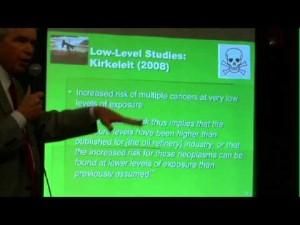 Lectura audiovisual sobre exposición a partículas tóxicas para la salud humana en el aíre.