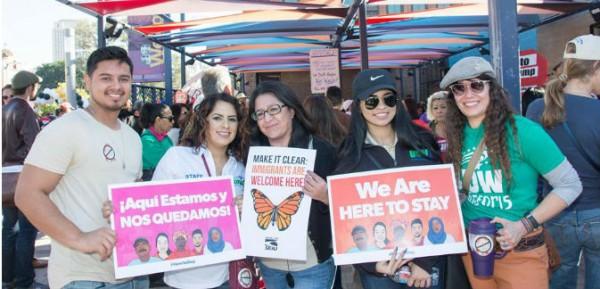 Participandes de las movilizaciones del Prirmo de Mayo