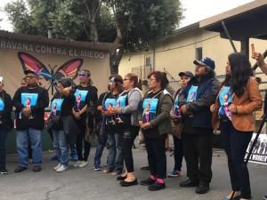 Algunos miembros de la Caravana contra el Miedo en Richmond, CA. Foto: Cortesía de Chelis López.