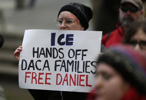 Protesta contra las redadas de ICE y por los derechos de los inmigrantes en E.U. Foto: PennLive.com