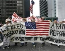 La Marcha del Día Sin Inmigrantes del Primero de Mayo de 2017 en la ciudad de Chicago. Foto:  Cortesía de http://www.losblogueros.net/