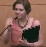 Michelle Doty Cabrera, directora de Políticas de Salud del SEIU: Foto Digital Democracy
