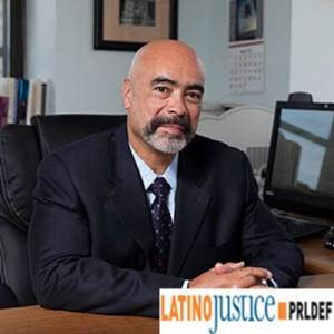 Juan Cartagena en su oficina de LatinoJustice en la ciudad de Nueva York. Foto: Cartagena / Twitter.