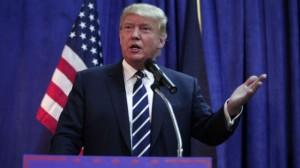 El presidente Donald Trump criticando la opinión del desaparecido juez, Anthony Scalia sobre la Acción Afirmativa. Foto: The Hill.