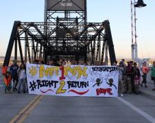 En una marcha de protesta contra las deportaciones, detenciones y el trato inhumano a los presos en NWDC. Foto: Cortesía de la agrupación civil NWDC Resistance/ Resistancia al NWDC