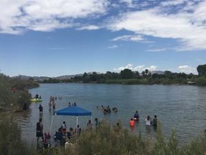 The Colorado River attracts both Arizonan and California residents.
