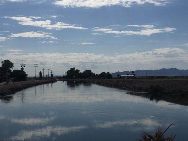 Un acueducto del Río Colorado donde Figueroa y sus hijos aprendieron a nadar.