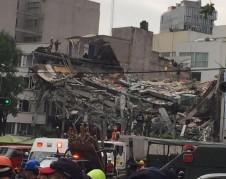 Edificio colapsado en la Delegación Cuauhtémoc, de la Ciudad de México.