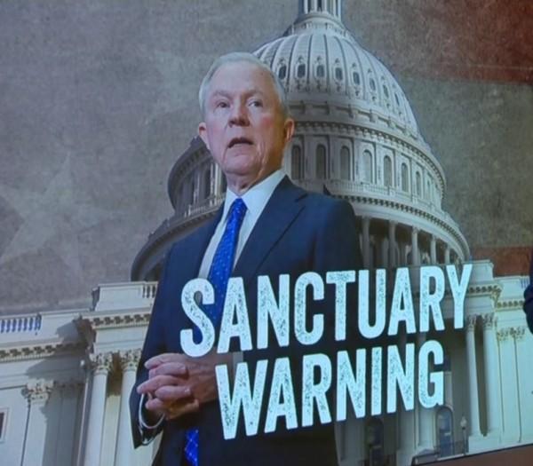 Anuncia Jeff Sessions que retirará fondos federales de de ciudades santuario. Foto: NewsBusters CBS.